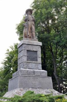 Pomník Jana Sladkého Koziny naHrádku