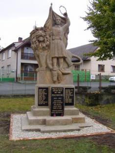 Pomník padlým vojínům vesvětových válkách