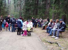 Účastníci vzpomínky vZadní Hoře