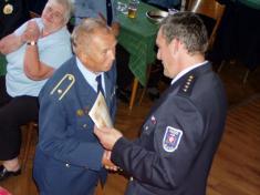 Předání titulu Čestný starosta SDH